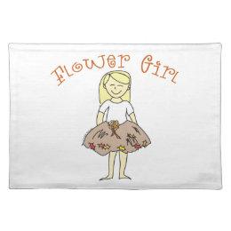 Autumn Flower Girl Placemat
