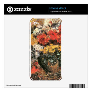 Autumn Flowers by Lovis Corinth iPhone 4S Skin