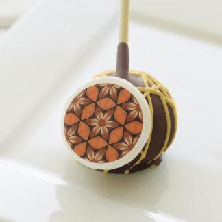 Autumn flowers geometric pattern yummy dessert cake pops