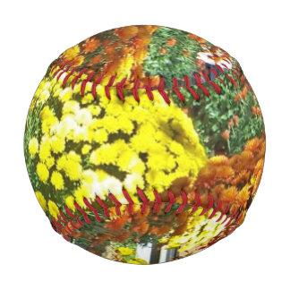 Autumn Flowers in Pots Baseball