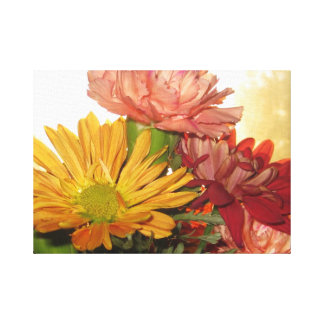 Autumn Flowers In The Golden Hour Canvas Print