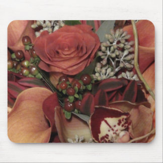 Autumn Flowers Mouse Pad