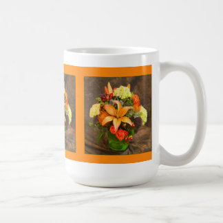 Autumn Flowers Of Roses & Tiger Lilies Mug