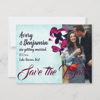 Autumn Flowers Save the Date Advice Card