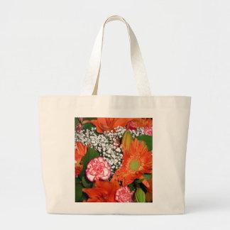 Autumn Flowers Tote Bag Jumbo Tote Bag