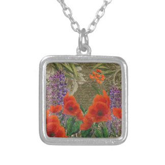 Autumn Fluer Silver Plated Necklace