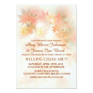Autumn fog fall wedding invitations autm3