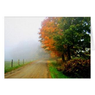 Autumn Foggy Morn Notecard Card