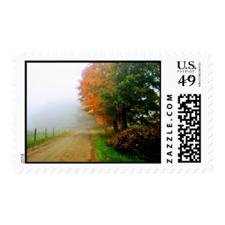Autumn - Foggy Morn Postage