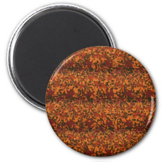 Autumn Folds Abstract 2 Inch Round Magnet