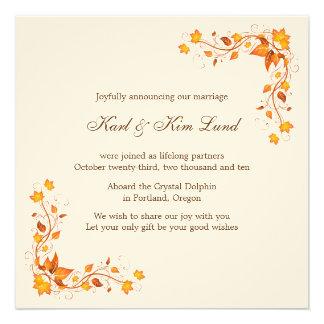 Autumn Foliage 1 Wedding Announcement Card