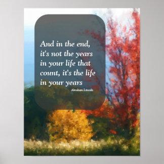 Autumn Foliage Attitude Inspirational Poster