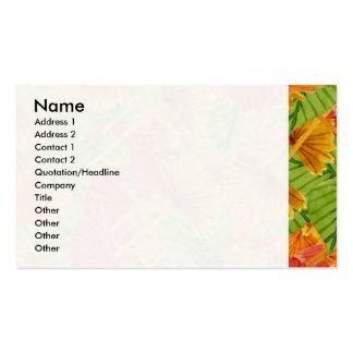Autumn foliage business card