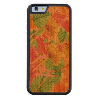 Autumn foliage carved cherry iPhone 6 bumper case
