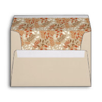 Autumn Foliage Fall Harvest Thanksgiving Envelope