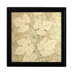 Autumn Foliage Fall Leaves in Tan Keepsake Box
