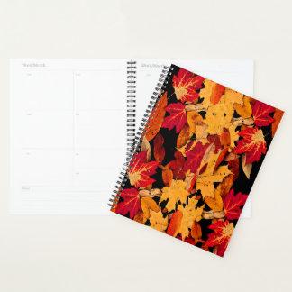 Autumn Foliage in Orange Yellow Red Brown Planner