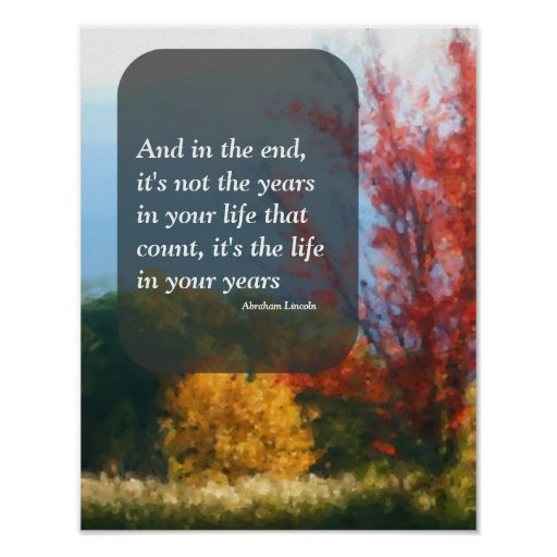 Autumn Foliage Live Life Attitude Inspirational Poster