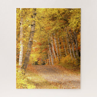 Autumn Foliage Nature Photography in UP Michigan Jigsaw Puzzle