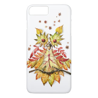 Autumn foliage Owl watercolor painting iPhone 7 Plus Case
