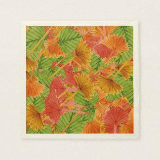 Autumn foliage paper napkin