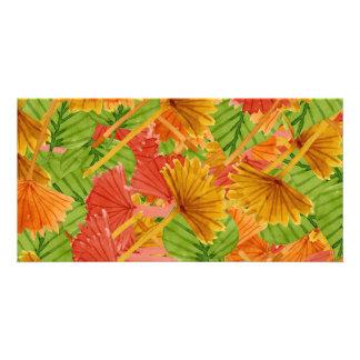 Autumn foliage personalized photo card