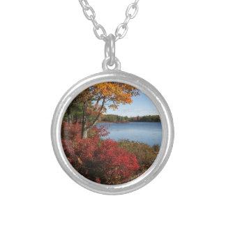 Autumn Foliage Splendor Forest Lake Destiny Necklace