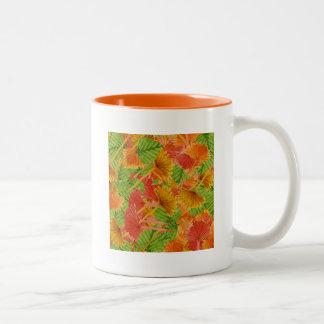 Autumn foliage Two-Tone coffee mug