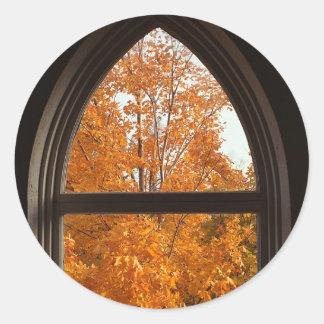 Autumn Foliage View Sticker
