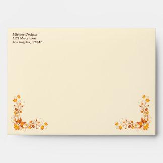 Autumn Foliage Wedding 5 x 7 Envelope