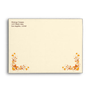Autumn Foliage Wedding 5 x 7 Envelope