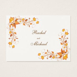 Autumn Foliage Wedding Directions Card