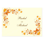 Autumn Foliage Wedding Directions Card Large Business Cards (Pack Of 100)