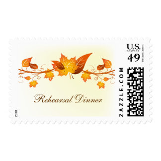 Autumn Foliage Wedding Event Postage
