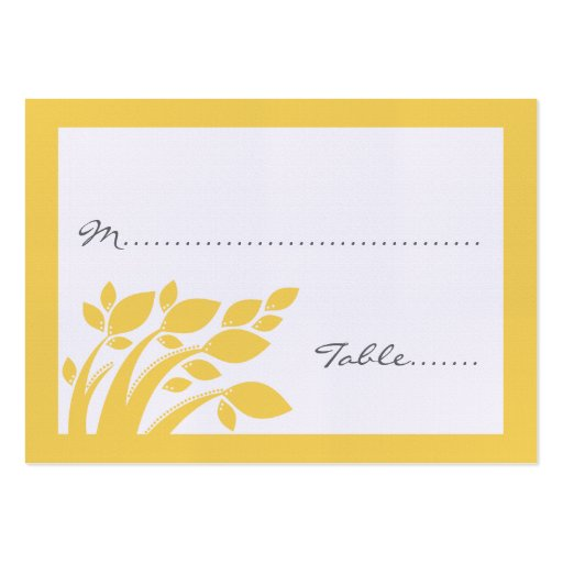 Autumn Foliage Wedding Place Card Business Card Templates