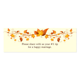 Autumn Foliage Wedding Questionnaire Business Cards