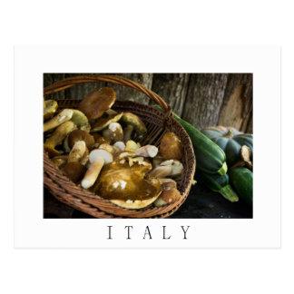 Autumn food still life in Italy postcard