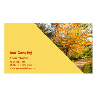 Autumn footpath in Azores Business Card Template