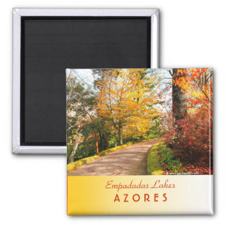 Autumn footpath in Azores Magnet