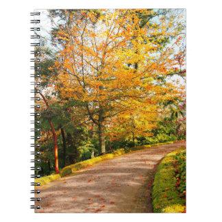Autumn footpath in Azores Spiral Notebook