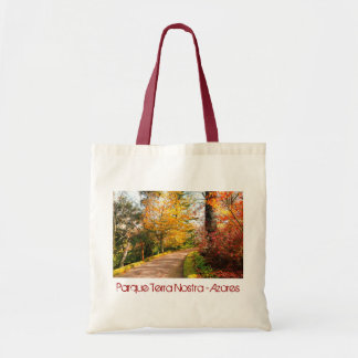 Autumn footpath in Azores Tote Bag