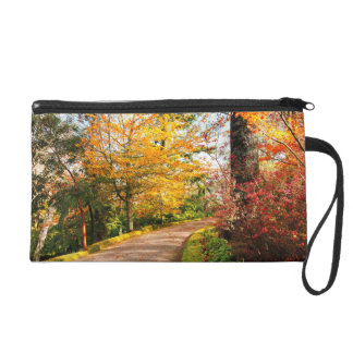 Autumn footpath in Azores Wristlet