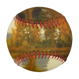 Autumn Forest by the River Baseball