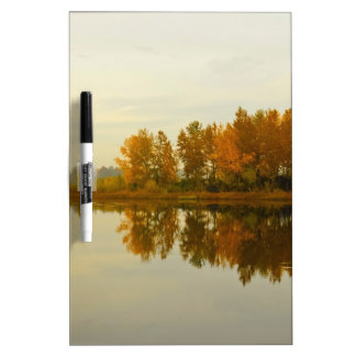 Autumn Forest by the River Dry Erase White Board