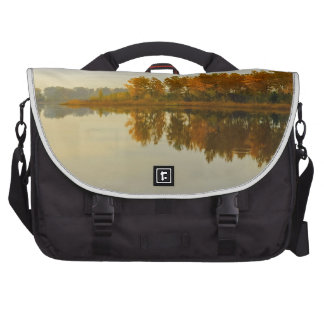 Autumn Forest by the River Laptop Bag