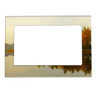 Autumn Forest by the River Magnetic Frame