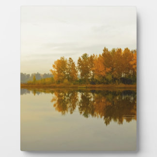 Autumn Forest by the River Plaque