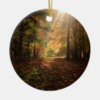 Autumn-forest Ceramic Ornament