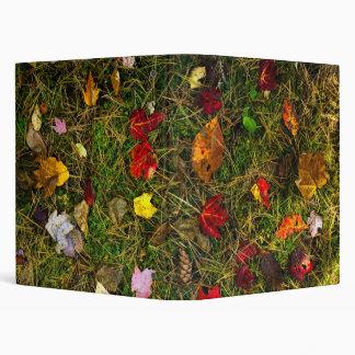Autumn forest floor 3 ring binder