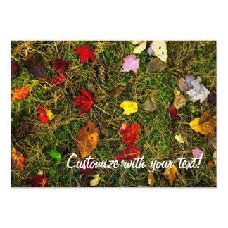 Autumn forest floor card
